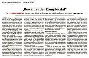Berichterstattung in den Nürnberger Nachrichten vom 1. Februar 2020